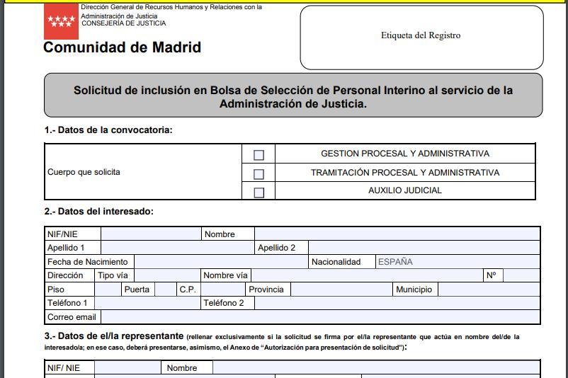 GestiónTramitación Bolsas Para Auxilio De Madrid Y Interinos edxrCBo